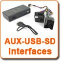 AUX-USB-SD Interfaces