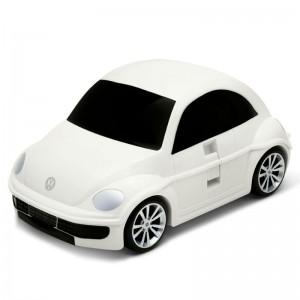 Koffers Ridaz Kids Travel Reiskoffer/Trolley - Volkswagen Beetle - Wit RZ 91003WW 4891761100339