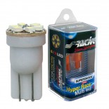 Simoni Racing T10 6-LED 'Hyper Multi' Lampen - Superwhite - Set à 2 stuks