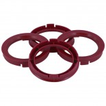 Set TPI Centreerringen - 64.0->56.1mm - Ruby Rood